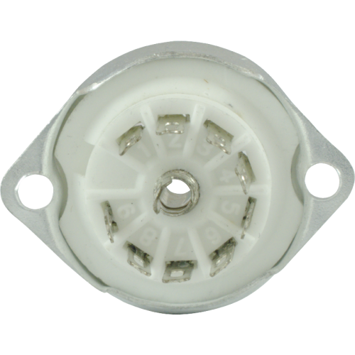 Socket - 9 Pin, Ceramic Base with Aluminum Shield image 3