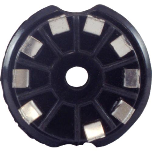 Socket - 9 Pin, PC Mount, Black Plastic image 3