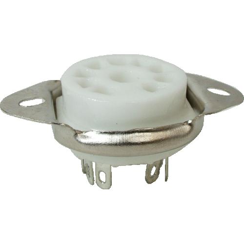 Socket - 9 Pin, Miniature, Ceramic, Chassis Mount image 1