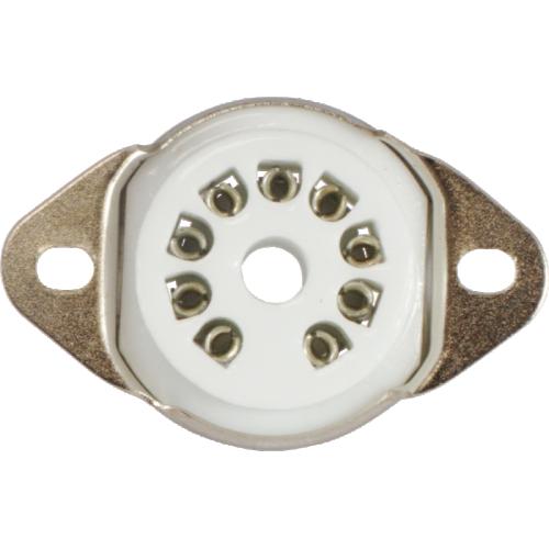 Socket - 9 Pin, Miniature, Ceramic, Chassis Mount image 2