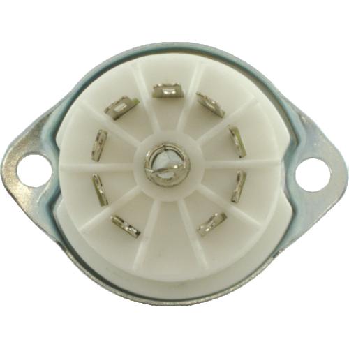 Socket - 9 pin miniature, ceramic image 3