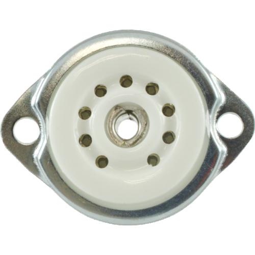 Socket - 9 pin miniature, ceramic, bottom or top mount image 2
