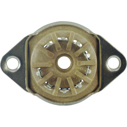 "Socket - 9 Pin, 3/4"" mounting hole, top mount image 3"