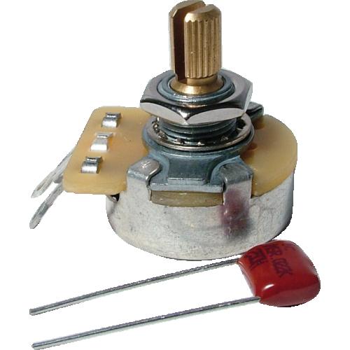 Potentiometer - Fender®, 250kΩ, Audio, Knurled Shaft image 1