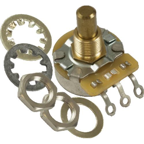 Potentiometer - Fender®, 250kΩ, J Taper, Solid Shaft, Control image 1