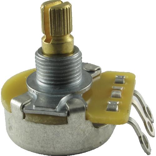"Potentiometer - Fender, 50kΩ, Audio, Split Shaft, 1/4"" Bushing image 1"