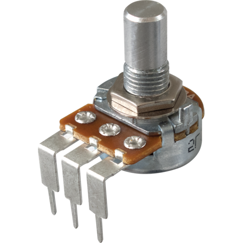 Potentiometer - Alpha, Audio, Solid Shaft, Long PC Lead, 16mm image 1