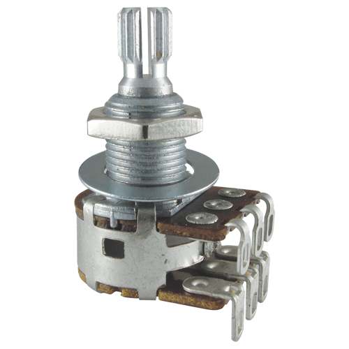 Potentiometer - Bourns, Dual MN Taper, Knurled Shaft image 1