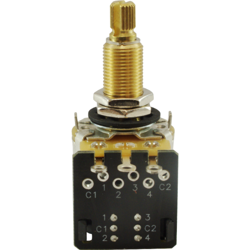 "Potentiometer - CTS, 500kΩ, Audio, Knurled, .75"" Bushing, DPDT image 2"