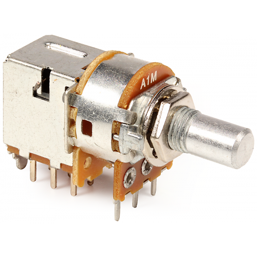 Potentiometer - Alpha, 1MΩ, Audio, 7mm Bushing, DPDT Switch image 1