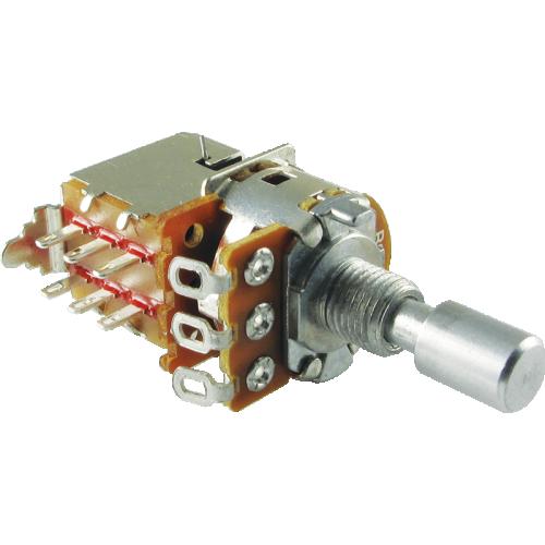 Potentiometer - Alpha, Linear, Solid, DPDT, 7mm Bushing image 1