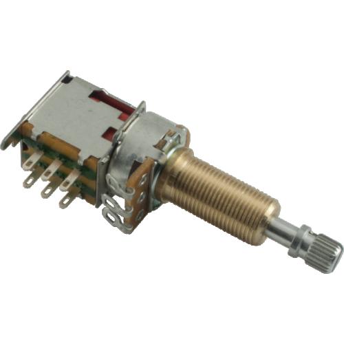 Potentiometer - 500kΩ, Audio, Knurled Long, DPDT, Push-Push image 1