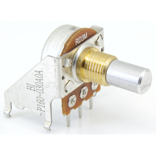 Potentiometer - Fender, 3M, Reverse Audio, Solid, 16mm, Snap-In image 2