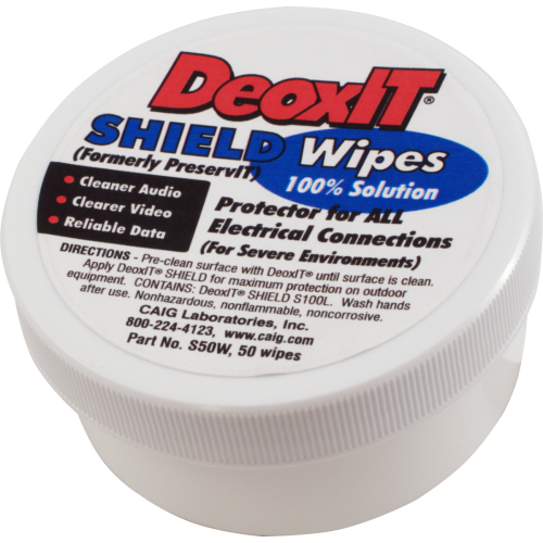 DeoxIT® Shield Wipes - Caig, 100% solution, 50 count image 1