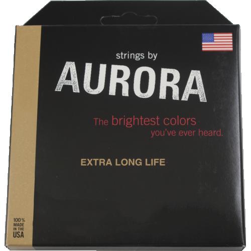 Bass Guitar Strings - Aurora, Pink, Medium image 1