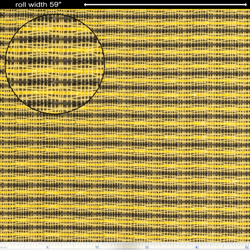 """Grill Cloth - Beige / Brown, Gold Stripe, 59"""" Wide image 1"""