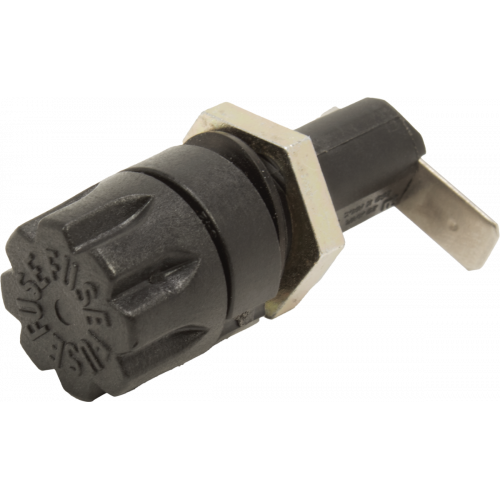 Fuse Holder - 3AG-Type, Tweed Style, Right Angle Spade Lug image 1