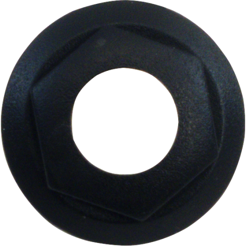 Bezel / Nut - Cliff, For S4, Combined Nut / Bezel, Black image 1