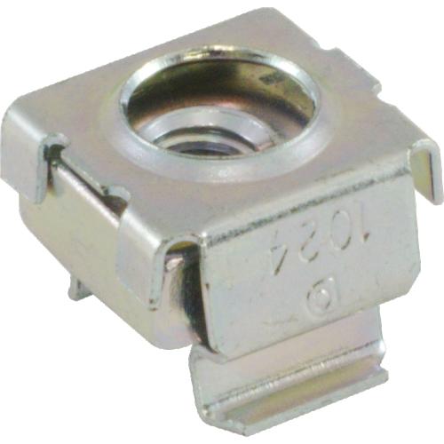 Nut - Cage, Zinc, 10/24, Electroplate Panel Range .064-.105 image 1