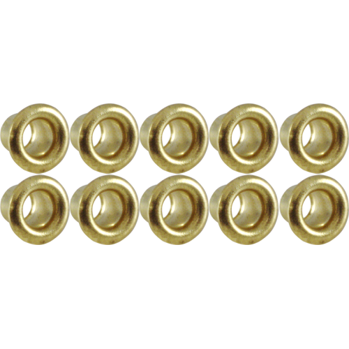 Eyelets - Brass, .121 x .125 x .200; MT .0095, package of 10 image 1