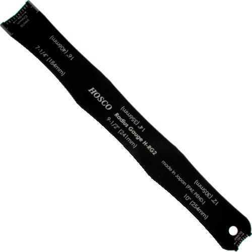 Radius Gauge - stainless steel, 6 radius measurements image 1