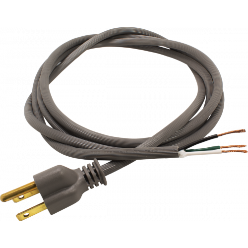 Cord - Power, 18 AWG, 3 Conductor, SVT, 6 ft, Gray image 1
