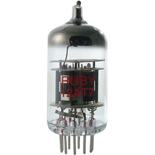 Vacuum Tube - 12AT7, Ruby image 1