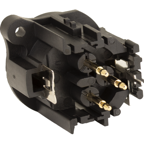 XLR Jack - Amphenol, 3-Pole, Male, PC Mount image 2