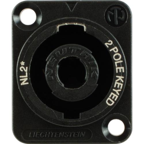 Speaker Twist Jack - Neutrik, speakON, 2-pole, panel mount image 2