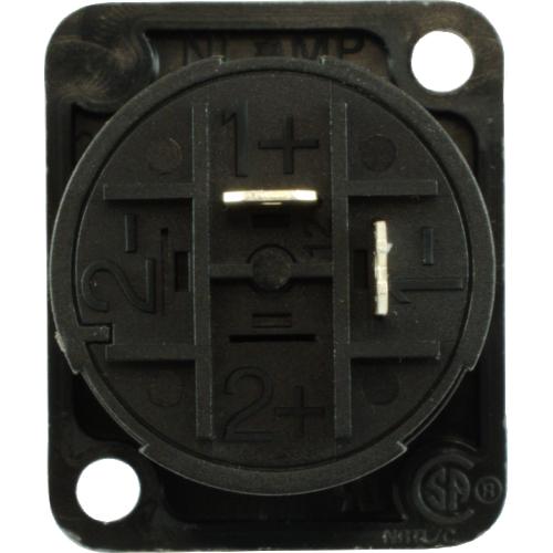 Speaker Twist Jack - Neutrik, speakON, 2-pole, panel mount image 3
