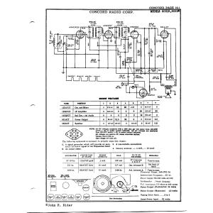 Concord Radio Corp. 6C51B