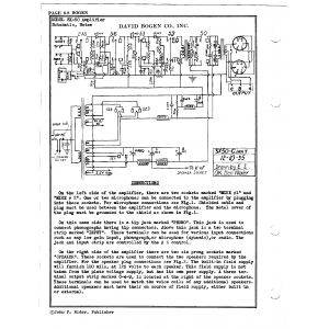 David Bogen Co., Inc. SX-50 Amplifier
