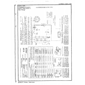 Gamble-Skogmo, Inc. 4954, Issue B