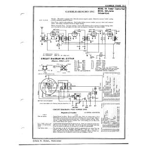 Gamble-Skogmo, Inc. 6B Power Converter
