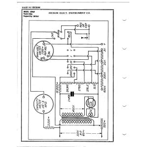 Hickok Elect. Instrument Co. 4949 Volt-Ohm Cap.