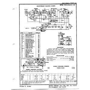 Hoffman Radio Corp. B400