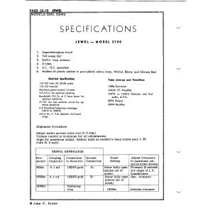 Jewel Electrical Instrument Co. 5200U