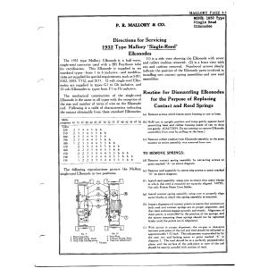 P.R. Mallory & Co. 1932
