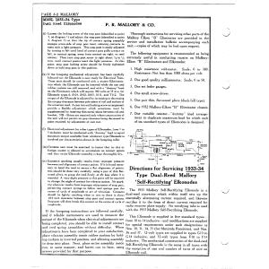 P.R. Mallory & Co. 1933-34