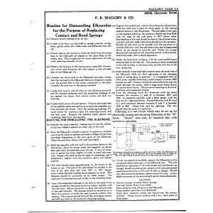 P.R. Mallory & Co. Dismatling Elknodes