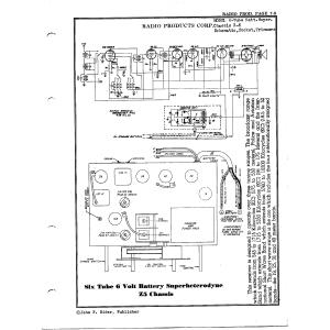 Radio Products Corp. 6-Tube Batt. Super