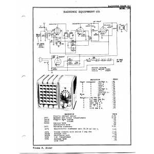 Radionic Equipment Co. 14-B