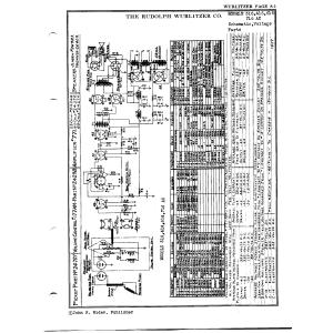 Rudolph Wurlitzer Co. 616 AC