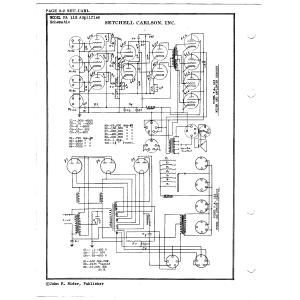 Setchell Carlson, Inc. 115 Amplifier