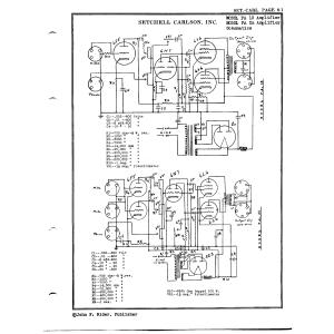 Setchell Carlson, Inc. PA 25 Amplifier