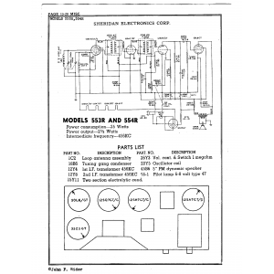 Sheridan Electronics Corp. 553R