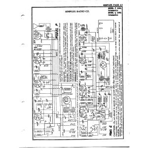 Simplex Radio Co. P 1931