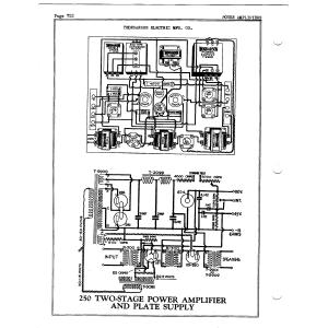 Thordarson Electric Mfg. Co. 250 Power Amp