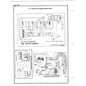 U.S. Radio & Television Corp. 27-P Chassis