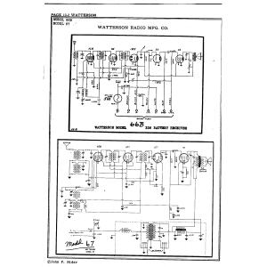 Watterson Radio Mfg. Co. 67